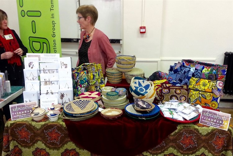 Ubushuti stall at church fair in Tamworth