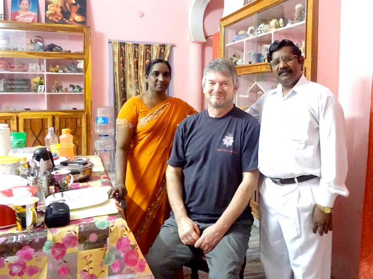Robin with Revd Vijaya Raju and his wife Victoria-Grace