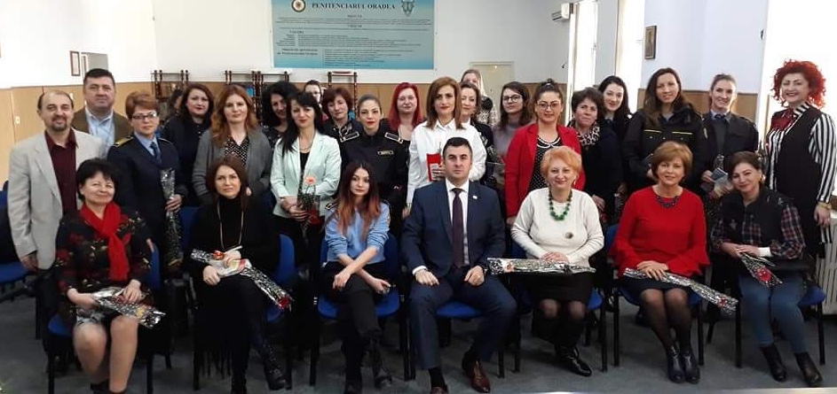 International Women's Day celebration in Oradea Prison organised by ACV.